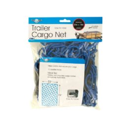 12 Units of Trailer Cargo Net with Hooks - Auto Accessories