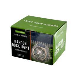 6 Units of Solar Powered Led Garden Rock Light - Garden Decor