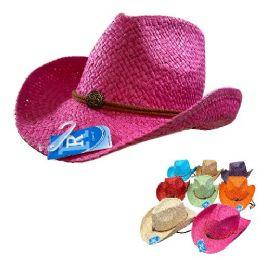 24 Units of Classic Woven Cowboy Hat - Cowboy & Boonie Hat