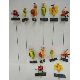 48 Units of Yard Stake [Frog/Owl/Snail/Bee/Bugs-WELCOME Sign] - Garden Decor