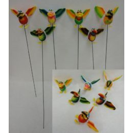 48 Units of Yard Stake [Jumbo Tropical Birds with Springing Wings] - Garden Decor