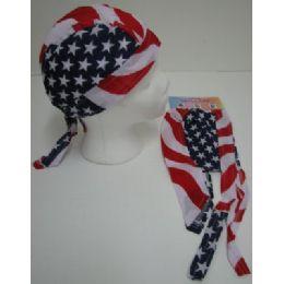 72 Units of Skull Cap-Americana - Bandanas