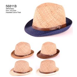24 Units of Dual colored hat with strap - Sun Hats
