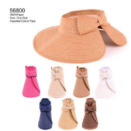24 Units of Fold Up Bow Sun Hat - Sun Hats