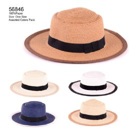 24 Units of Assorted Color Sun Hat - Sun Hats