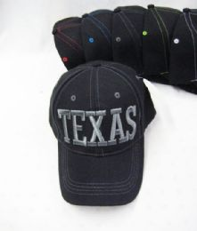 "36 Units of ""texas"" Base Ball Cap - Hats With Sayings"