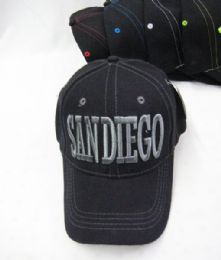 "36 Units of ""San Diego"" Base ball Cap - Hats With Sayings"
