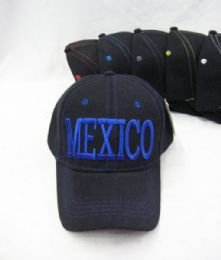 """36 Units of """"mexico"""" Base Ball Cap - Hats With Sayings"""