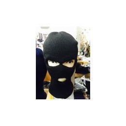 96 Units of Black 3 Hole Ski Mask - Unisex Ski Masks