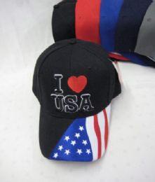 36 Units of I Heart USA Cap - Baseball Caps & Snap Backs