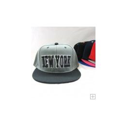 48 Units of Kids Snap On New York Cap - Kids Baseball Caps