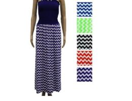 48 Units of Womans Long Striped Fashion Summer Dress - Womens Sundresses & Fashion