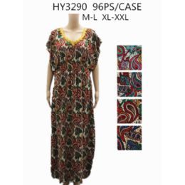 48 Units of Womans Paisley Design Long Summer Dress - Womens Sundresses & Fashion