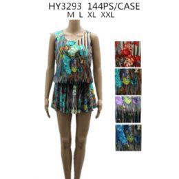 48 Units of Womans Short Printed Summer Dress - Womens Sundresses & Fashion
