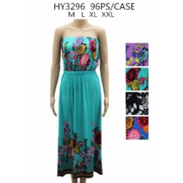 48 Units of Womans Fashion Printed Summer Dress - Womens Sundresses & Fashion
