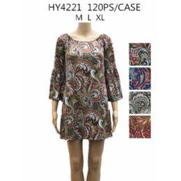 36 Units of Womans Short Paisley Summer Dress - Womens Sundresses & Fashion