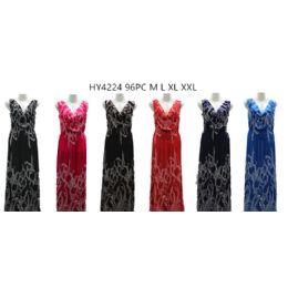 48 Units of Womans Fashion Long Summer Dress - Womens Sundresses & Fashion