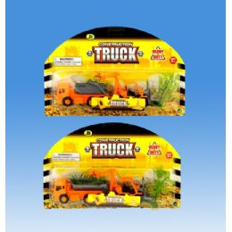 72 Units of Construction Truck In Blister Card - Toy Sets
