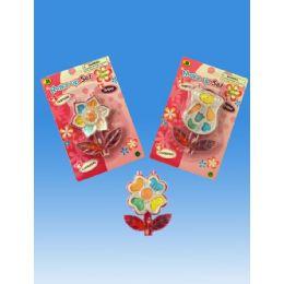 72 Units of Make Up Set In Blister Flower Design - Girls Toys