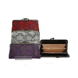 96 Units of Snap-close wallet W/ snake print - Wallets & Handbags