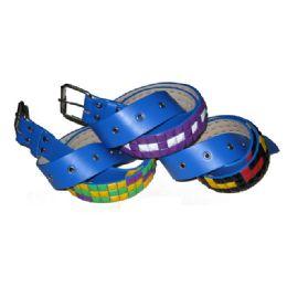 144 Units of Pyramid Studded Assorted Belt - Unisex Fashion Belts