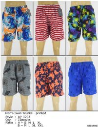 72 Units of Men's Assorted Printed Bathing Suit - Mens Bathing Suits