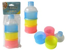 72 Units of Milk Powder Container- 3 Section - Baby Accessories