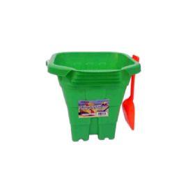 "96 Units of 8"" Square Bucket W/Shovel - Beach Toys"