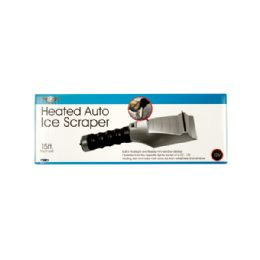12 Units of Heated Auto Ice Scraper with Flashlight - Flash Lights