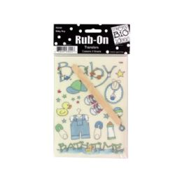 144 Units of Baby Boy RuB-On Transfers - Baby Accessories