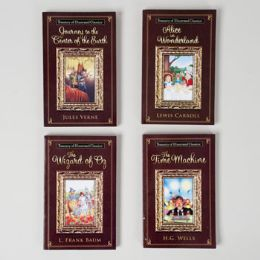 48 Units of Book Paperback Illustr Classics 4asst Oz/alice/time Machine/ Journey To Center Of Earth - Coloring & Activity Books