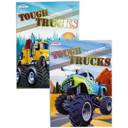 24 Units of Color/activity Book Tough Truck 80 Pg In Pdq 2 Assorted - Coloring & Activity Books