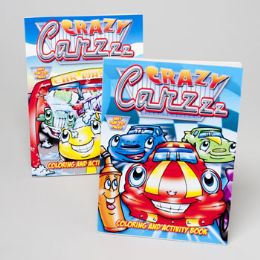 24 Units of Coloring Book Crazy Carzz 96 Pg Activity In 24 Ct Pdq - Coloring & Activity Books