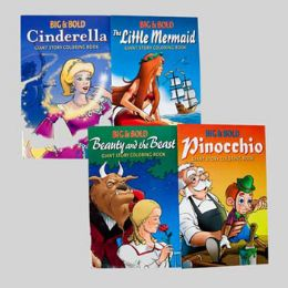 24 Units of Coloring Book Giant Fairy Tales 4 Assorted Stories - Coloring & Activity Books