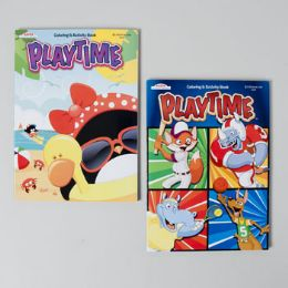 24 Units of Playtime Coloring/activity Book 2 Asst In Pdq - Coloring & Activity Books