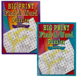 24 Units of Puzzle Book Big Print Find-a-word 96 Pg In Pdq - Crosswords, Dictionaries, Puzzle books