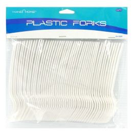 48 Units of 51PC. PLASTIC FORKS - Disposable Cutlery