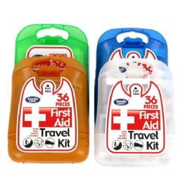 96 Units of 36 COUNT FIRST AID KIT CLEANING PACKAGE 4 ASSORTED BAND COVERS - First Aid and Bandages