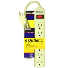 36 Units of 6 Outlet Power Strip U/l - Chargers & Adapters