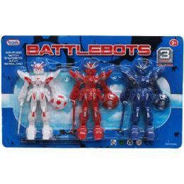 """48 Units of 3 Piece """"BattleBots"""" Droids Play Set - Action Figures & Robots"""