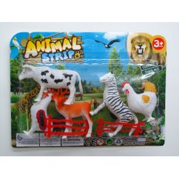 72 Units of PLASTIC FRM/JUNGLE ANIMAL PLAY SET - Animals & Reptiles