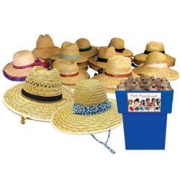 48 Units of Asst Summer Straw Hats Assorted Styles Gardening Lifeguard Golfer - Sun Hats