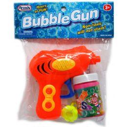 "96 Units of 4.25"" W/U BUBBLE GUN IN POLY BAG W/HEADER, 3 ASST - Bubbles"