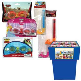 96 Units of Swim Goggles + Snorkles Licensed 10 Asst Styles - Summer Toys