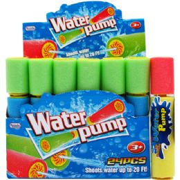 "144 Units of 8""l X 1.5""d Water Pump In 24pc Display Box - Water Guns"