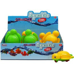 "54 Units of 6"" PULL STRING WATER TOYS(TURTLE) IN 9PC DISPLAY BOX - Dominoes & Chess"
