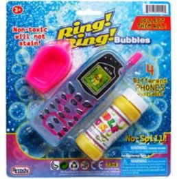 """48 Units of 2PC 5.5""""BUBBLE CELLPHONES & ACCSS IN BLISTERED CARD ASST. - Bubbles"""