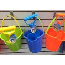 48 Units of Large Bucket And Shovel 2.50 48/case. Asst Colors - Beach Toys