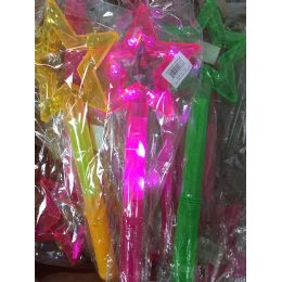72 Units of Light Up Flashing Star Wand - Light Up Toys