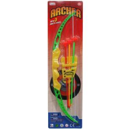 """72 Units of 17"""" Bow & Soft Dart Arrows Play Set - Toy Sets"""